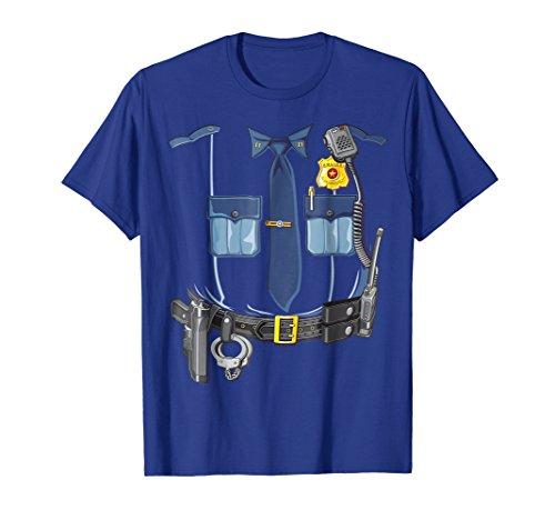 Police Halloween Costume Shirt Police Sheriff Deputy Shirt]()