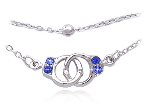 cocojewelry Handcuffs Anklet Ankle Bracelet Bead Chain Foot Jewelry (Royal Blue)