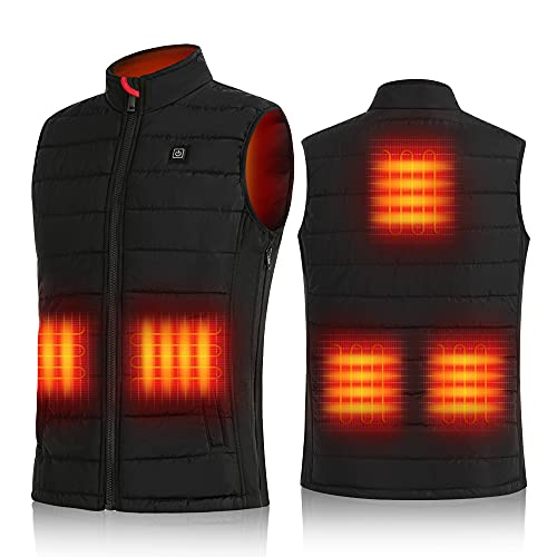 Mens Heated Vest with Battery Pack, Rechargeable Heated Jacket Warming Clothes Lightweight Heating Vest Coat for Hiking, Fishing, Camping, Hunting, Motorcycling (Small, mens heated vest, s)