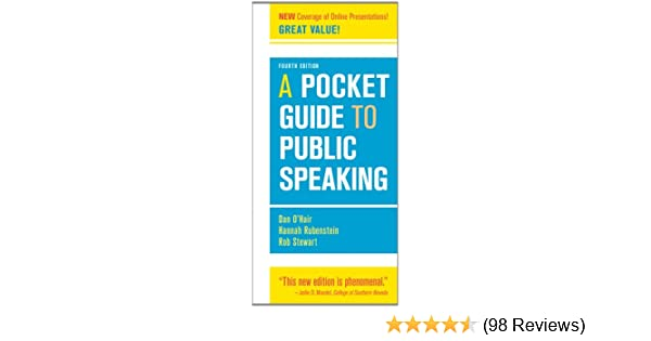 A pocket guide to public speaking 4th edition 9781457601842 a pocket guide to public speaking 4th edition 9781457601842 communication books amazon fandeluxe Images