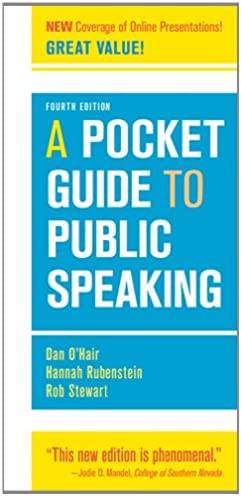 a pocket guide to public speaking 4th edition 9781457601842 rh amazon com a pocket guide to public speaking ppt a pocket guide to public speaking amazon