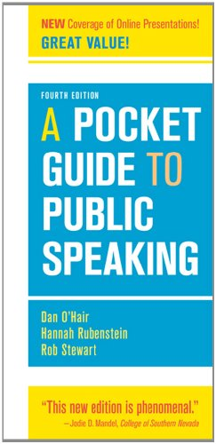 A Pocket Guide to Public Speaking (Pocket Guide To Public Speaking 4th Edition)