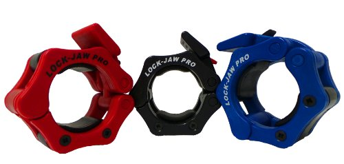Lock Jaw Pro Locking Olympic Collars Red by Lock-Jaw