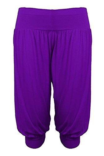 S Fashions Cropped Pantaloni Harem Baba Islander Pantaloni Ali Womens 3 Legging Purple Fancy larghi 4 Ladies XXXL 1xwFFPq4d6