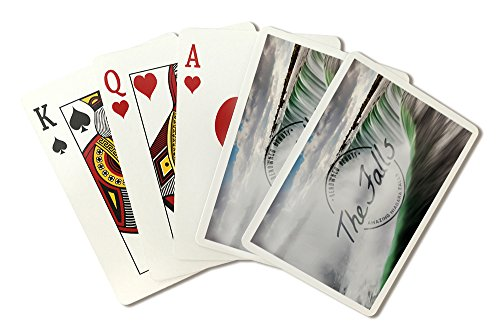 Niagara Falls - Horseshoe Falls Close Up with Mist - Badge (Playing Card Deck - 52 Card Poker Size with Jokers)