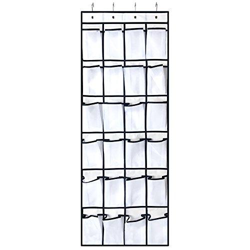 WindBreath 24-Pocket Over the Door Shoe Organizer, Hanging Mesh Storage 21.7'' x 59.1'', White by WindBreath