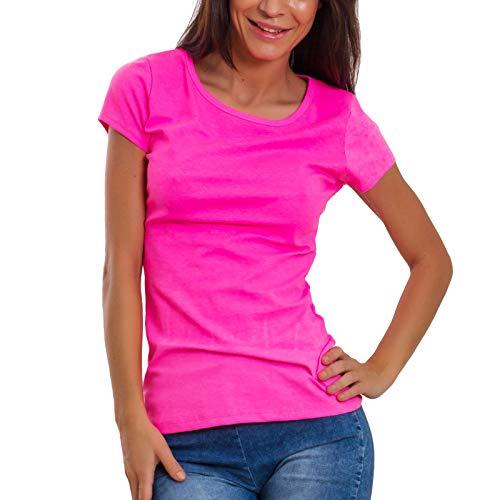 Ripped Tagliata T Toocool Nuda Fluo Schiena Donna Rosa shirt Jl 629 w161XqdYx