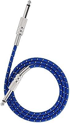 Vbestlife Mono Cable de Guitarra Macho Cable Masculino Cable de Enchufe de 6.35mm para Instrumentos Eléctricos(1 m)