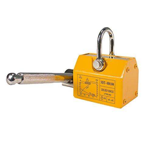 Steel Dragon Tools 220 LBS 100 KG Neodymium Lifting Magnet Magnetic Shop Crane Metal Lifting Hoist