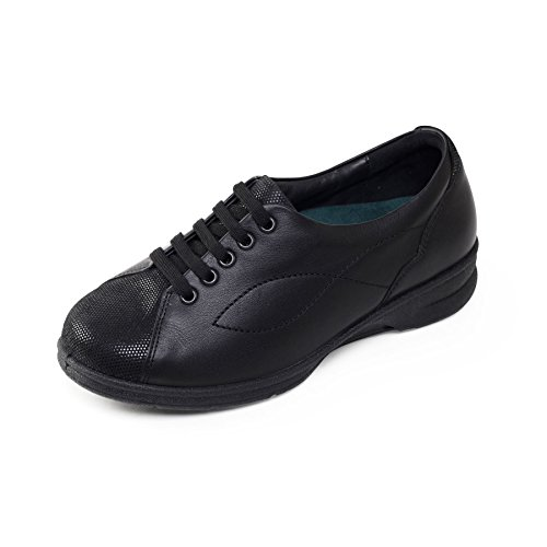 Black Width Dual Women's For combi Plus Heel Padders 4e System Plus 30mm Extra Depth Shoe 'kira' Fit Free 5e Horn Ultra amp; Footcare Leather Range Wide Uk p5qx4Fwz7x