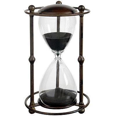 A&B Home Althea Hour Glass Stand, 6.2 X 12.5-Inch, Black ()