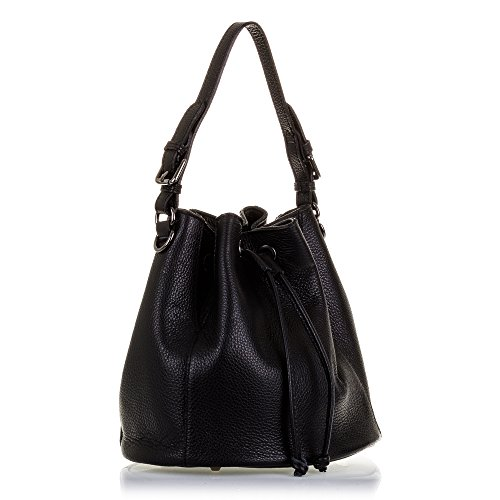 Firenze Artegiani Leather Woman Hombro Black bolso Black Negro Dollaro Firenze Negro Color Genuine 25x25x25 Cm Color bolso Auténtica Cuero Shoulder Cm 25x25x25 Auténtica Vera Con Italian Pelle Pelle Italiana De bolso Mujer Piel In Italy Vera Made Finish Mujer Piel De In Skin Skin Cierre Dollaro Made Italy Closure Artegiani Leather Acabado Drawstring Genuino Woman De Piel bolso Cordón qqwgrd