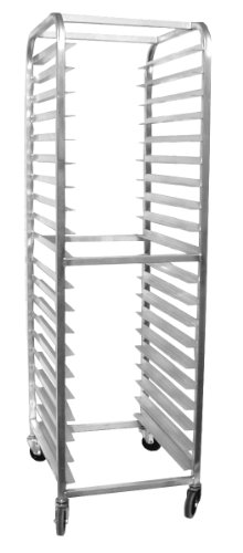 Pan Load Rack Bun (Magna Industries 4610E Standard-Duty Aluminum End-Load Bun Pan Rack with Stem Casters, 20-1/2