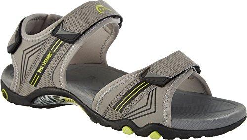 Reel Legends Mens Naples Grey Sandals 13 Grey/lime - Men Naples