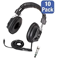 Pack of 10 3068AV Switchable Stereo/Mono Headphones