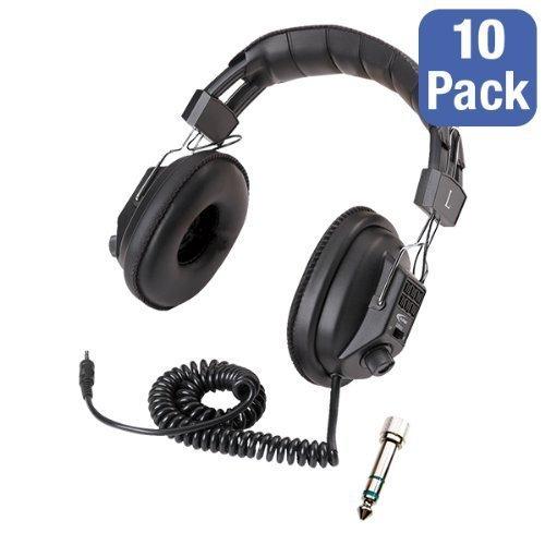 Pack of 10 3068AV Switchable Stereo/Mono Headphones