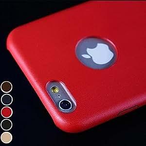 GDW Funda Trasera - De Un Color/Cuero - para iPhone 6 Plus ( Rojo/Negro/Azul/Marrón/Oro , Cuero Sintético ) , Golden
