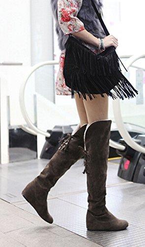 amp; mujer Para gamuza Shopping Marrón Happy Fx4Ofq4