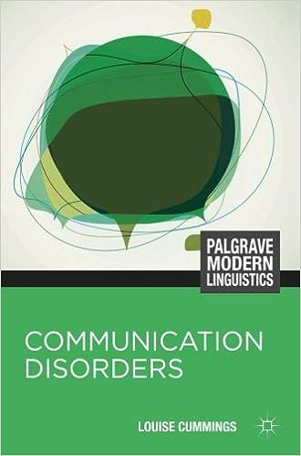 Book Communication Disorders (Palgrave Modern Linguistics)