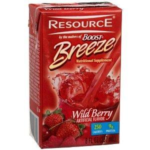 Resource Breeze Wildberry 8oz Brikpaks 27/Case ** 4 Case Special** by Nestle