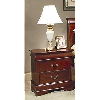 Coaster Fine Furniture 200432 Louis Philippe Style Nightstand, Cherry
