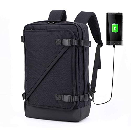 YEXIN Waterproof Anti-Thief Laptop Backpack USB Charging Port Business Travel Backpack Bag Men Rain Cover 15.6 Inch (Color : Black) from YEXIN