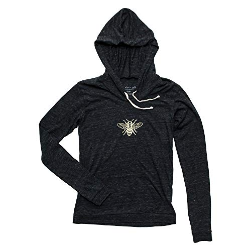 Honey Bee Women's Lightweight Eco-Blend Pullover Hoodie