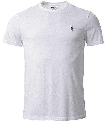 RALPH LAUREN Polo Men Custom Fit Crew Neck Pony Logo T-Shirt (Large, ()