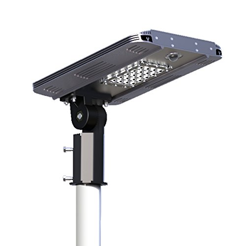 Solar/Hybrid Energy Efficient LED Ultra-Powerful Self-Contained Smart Commercial Residential Lighting w/ Mounting System for Building Parking lots Bike Path Street (5W)