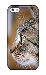 Craigmmons Case Cover For Iphone 5/5s - Retailer Packaging Observing Cat Cute Felines Animal Cat Protective Case