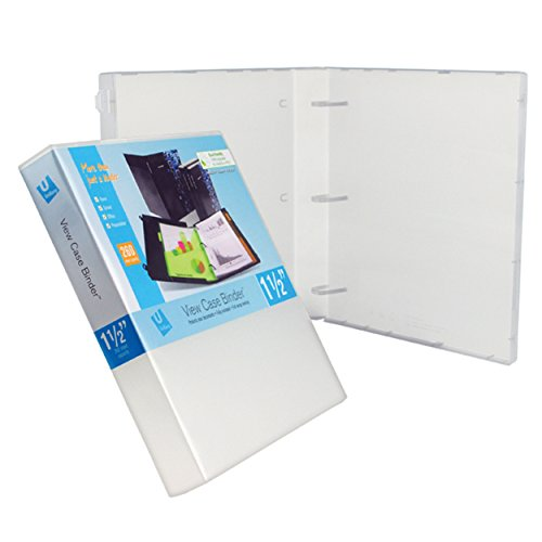 UniKeep 3 Ring Binder - Clear - Case View Binder - 1.5 Inch Spine - with Clear Outer Overlay - Box of 15 Binders ()