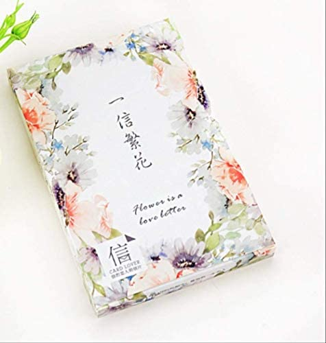 FANGDAHAI Briefpapier Supplies 14.3cm*9.3cm flower letter paper postcard(1pack=30pieces)