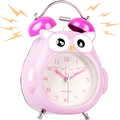 Korotus COLLECTION Alarm Clock for Kids Heavy Sleepers, Cute Owl for Girls Gift (Pink Owl) ()