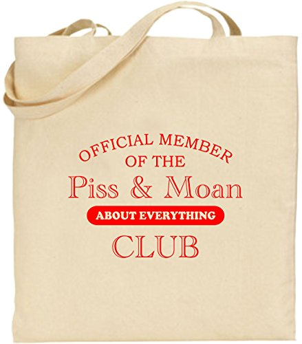Large Cotton Shopping Tote Member Red Of Present Club Piss And Bag Moan The Official 08vRw
