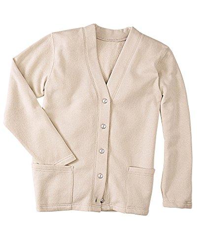 (National Fleece Cardigan, Oatmeal, Large)