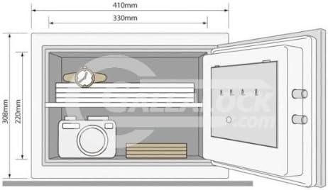 Yale YFM 310 FG2 Certificado Fire – ald16 armario caja fuerte con cierre electrónico 26 kg 1 Hora Protección Acero Epoxi Sealed: Amazon.es: Instrumentos musicales