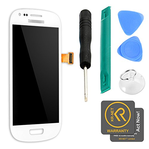 Easy To Shop White LCD Display + Touch Screen Digitizer Assembly for Samsung Galaxy S3 Mini i8190 [Non-retail Packaging] (Samsung S3 Display Galaxy Lcd)