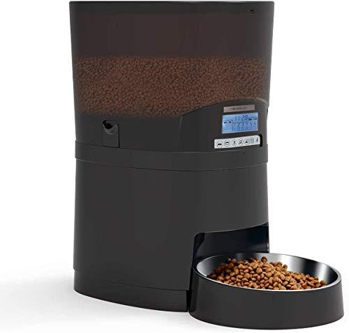 🥇 WellToBe Comedero automático Gatos y Perros – 7L dispensador de alimentación automático con Temporizador hasta 6 Comidas al día