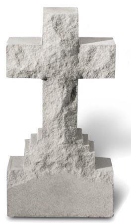 (Rustic Cross Garden Stone)