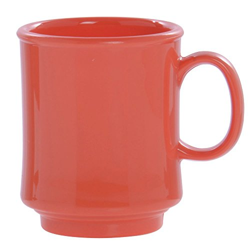 8 Ounce Stacking Mug - GET Bake And Brew Rio Orange Plastic 8 Oz. Stacking Mug [Box of 24]