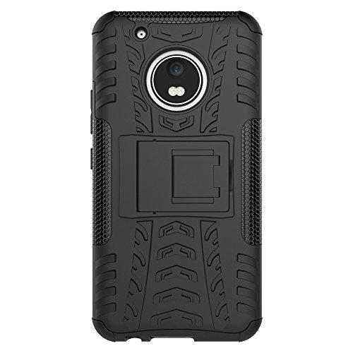OFU®Para Lenovo Moto G5 Plus 5.2 Smartphone, Híbrido caja de la armadura para el teléfono Lenovo Moto G5 Plus 5.2 resistente a prueba de golpes contra la lucha de viaje accesorios esenciales del tel Rose Red
