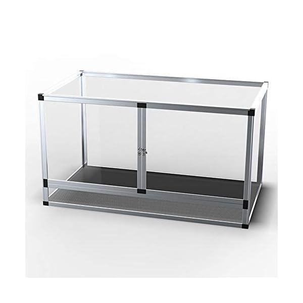 621 92 Terrario Per Rettili Completo Combinazione Fai Da Te Terrarium Teca Per Rettili Incubatore In Lega Di Alluminio Petmylove