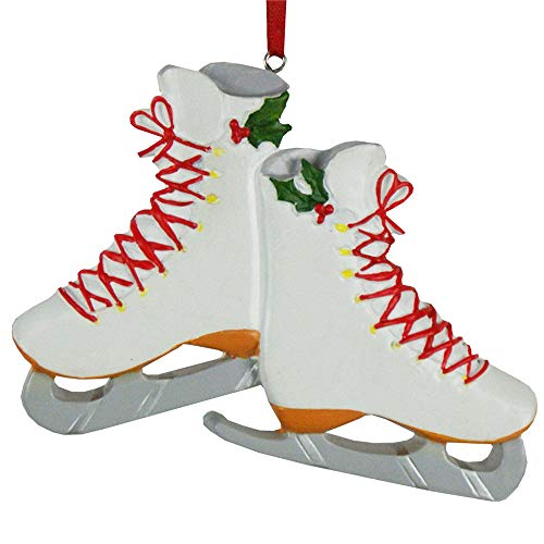GiftsForYouNow Ice Skate Christmas Ornament, Figure Skating, Resin, Hand Painted