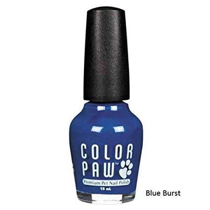 (Color Paw Nail Polish Blue Burst @)