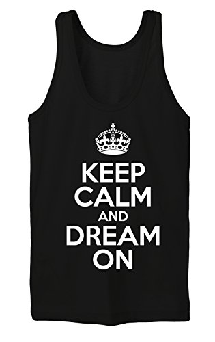 Keep Calm And Dream On Tanktop Girls Nero