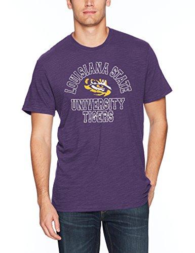 OTS NCAA LSU Tigers Men's Slub Distressed Tee, XX-Large, (Lsu Tigers Drapes)