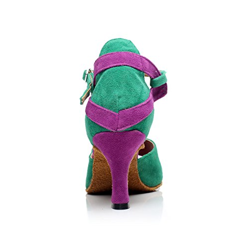 Jazz Party Strap Chaussures Latino Danse Latin Femmes Salsa Hauts UK4 Chaussures Talons Our37 de JSHOE heeled10cm EU36 Danse T Ballroom Sexy 5 Tango Green qw0YPytO