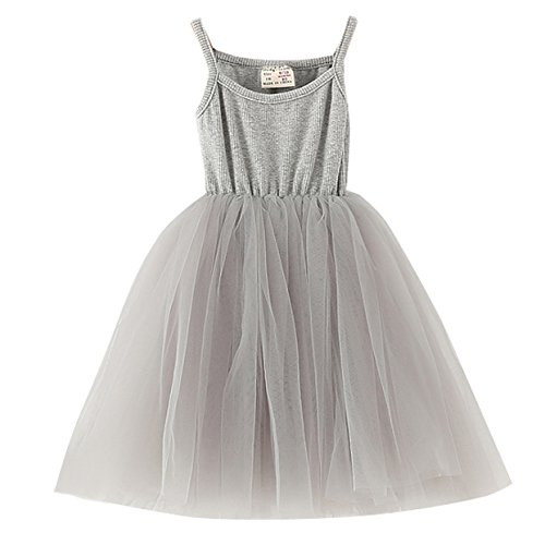 XUNYU Baby Girls Tutu Dress Sleeveless Infant Toddler Sundress Tulle Bubble 5 Layers