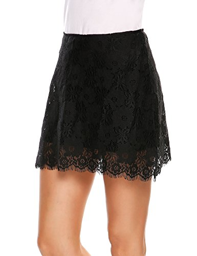 Zeagoo Women's Fully Lined Lace Pencil (Fully Lined Pencil Skirt)