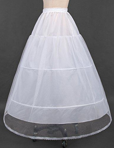 Weiß Unterrock Damen Lang Tüllrock Petticoat Bridal Underskirt Braut Petticoat Pettiskirt CL2530